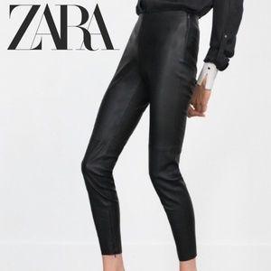 ZARA Trafaluc Collection Leather Pants